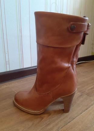 Кожаные ботинки италия.