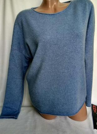 Шикарный джемпер голубого оттенка, 100% кашемир, р. n 5 - l, наш 50 , от marc cain