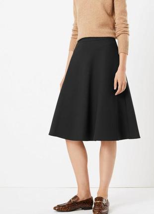 Текстурная плотная юбка полусолнце, солнце, большой размер.