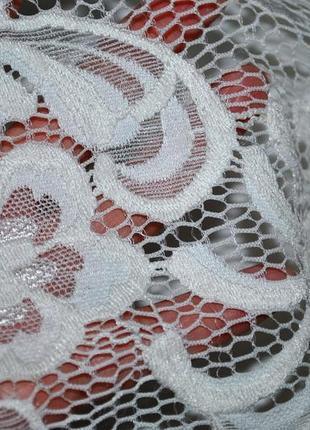 Платье h&m швеция xs-s роскошное нарядное белое ажурное нежное женственное3 фото