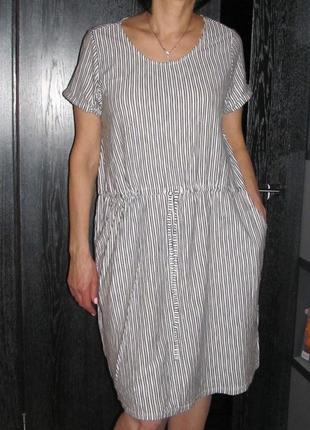 Комфортное трикотажное платье bhs р.16