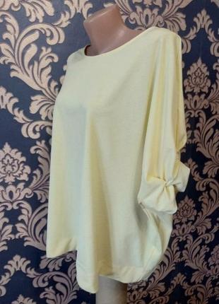 Нарядная желтая блуза рукава фонарики
