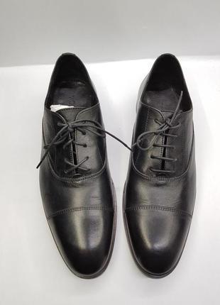 Мужские кожаные черные туфли дерби оксфорды kiomi 44 европа