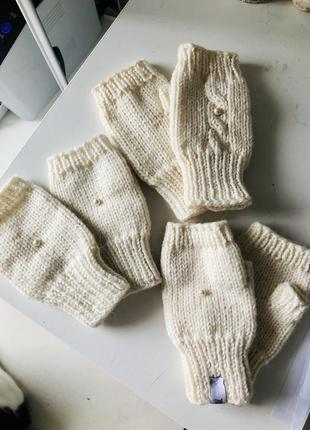 Митенки детские, рукавички варежки без пальчиков the poise