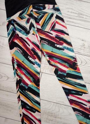 Джинсы для беременных яркие стильные брюки