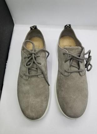 Женские серые замшевые утеплённые повседневные кроссовки ugg  оригинал