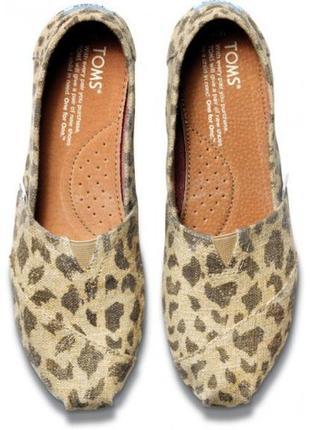 Женские эспадрильи toms burlap leopard р. 40 (26 см) оригинал
