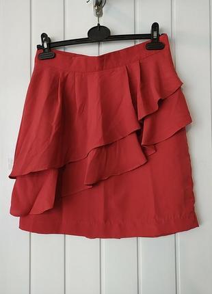 Супер коралловая  юбка