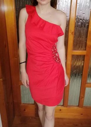 Вечерние короткое платье нарядное с паетками3 фото