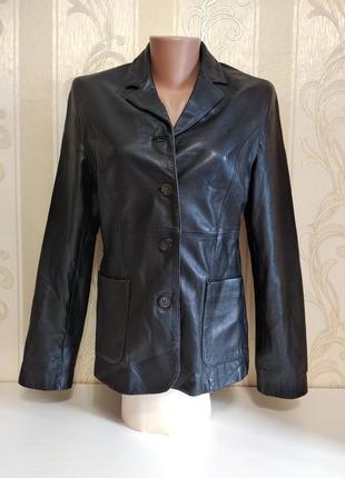 Кожаный пиджак куртка , united color of benetton