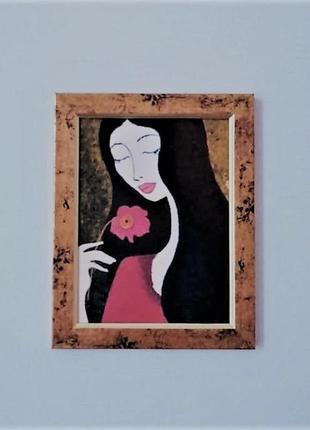"""Картина """"девушка с камелией"""""""