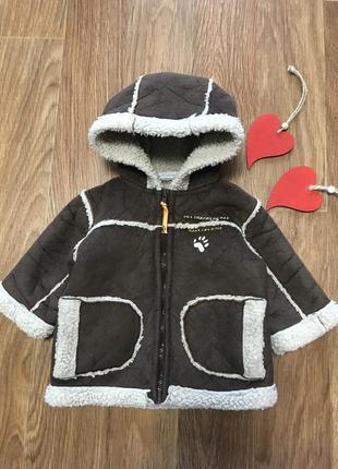 Деми дублёнка куртка пальто с капюшоном