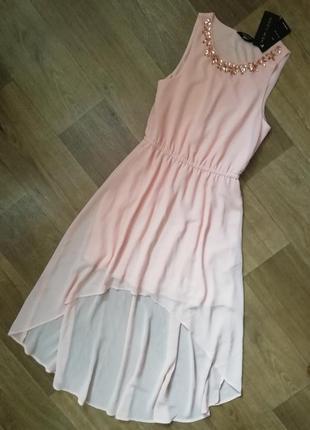 Шифоновое платье с камнями, сукня, сарафан, плаття