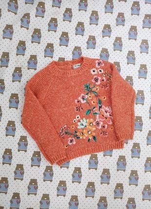 Продам теплый свитер с цветами