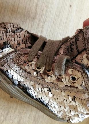 Ботинки в паетках. blumarine