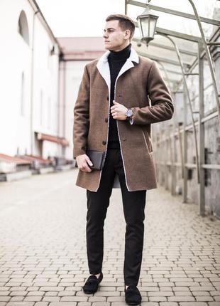 Шикарное стильное мужское пальто