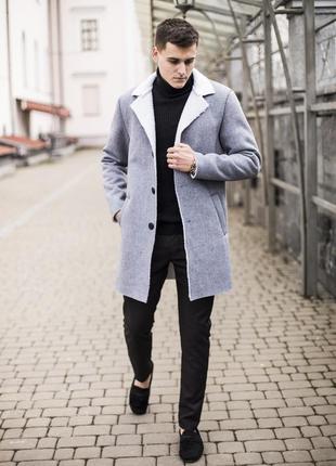 Шикарное мужское демисезонное пальто