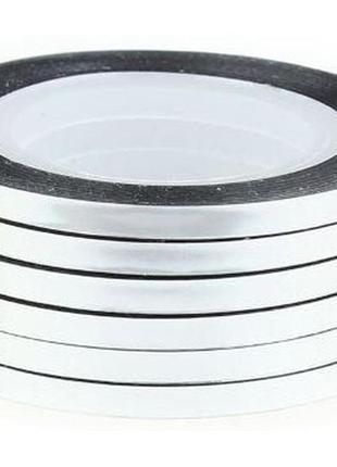 Липкая лента для дизайна ногтей 3 мм серебро