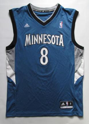 Оригинальная синяя баскетбольная майка nba minnesota timberwolves от adidas
