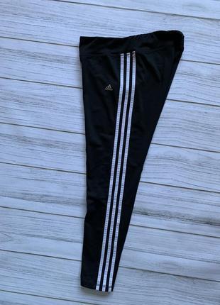 Оригинальные лосины леггинсы adidas с лампасами climalite