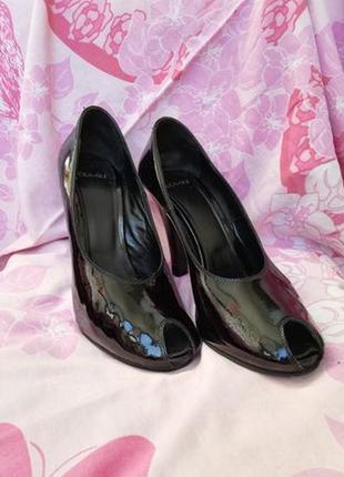 Туфли лодочки босоножки лоферы новые р. 35 италия, натуральная кожа