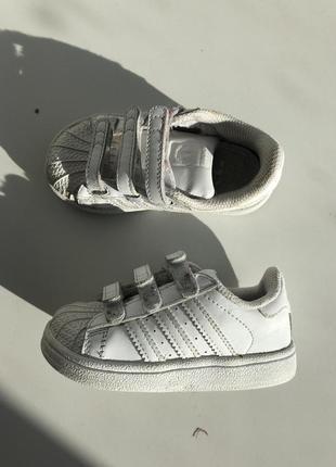 Кроссовки adidas superstar кожанные белые