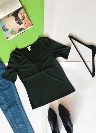 Актуальная  изумрудна блуза блузка от h&m. р-р м