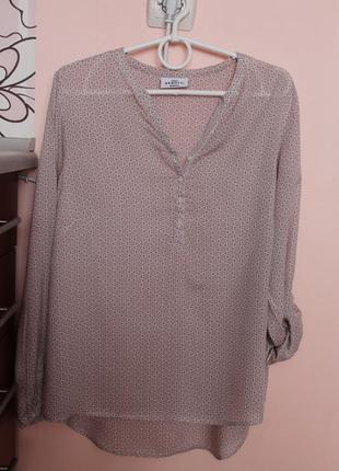 Лёгкая итальянская блузка, блуза, рубашка 46-48 р.