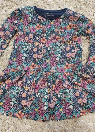 Платье туника некст 4-5 лет до 110 см