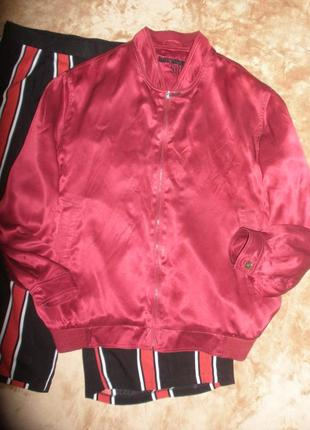 Универсальный красивый бомбер объемная легкая куртка hardtop из натурального шелка