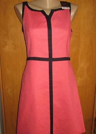 Нарядное летнее платье next, платье лен, европейский размер 10, наш 44