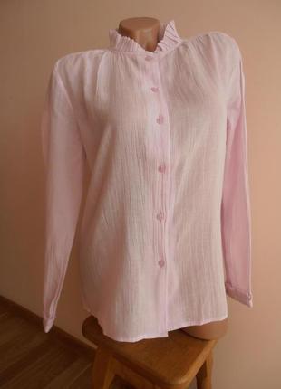 Миленькая хлопковая блуза нежно розового цвета