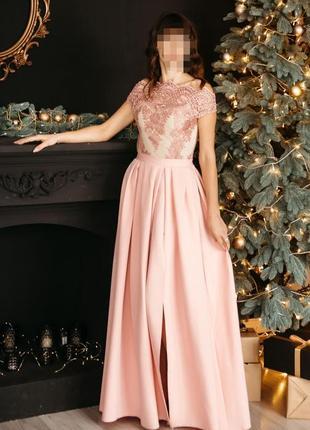 Шикарное длинное платье в пол с кружевом, сукня, плаття, выпускное, нарядное