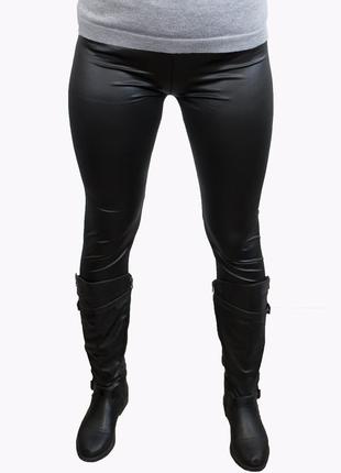 Леггинсы под кожу лосины женские черные лосіни легінси