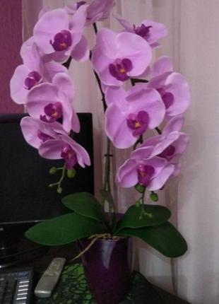 Орхидея силикон латекс композиция в горшке
