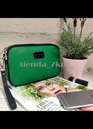 Женская сумка на два отделения / клатч david jones cm5666t зеленый