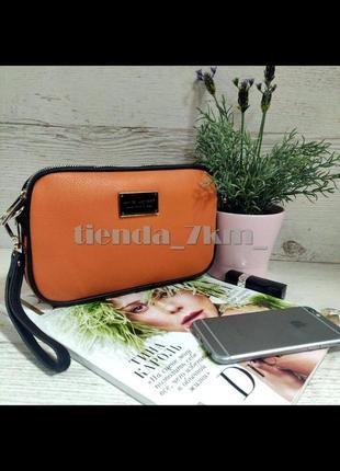 Женская сумка на два отделения / клатч david jones cm5666t оранжевый