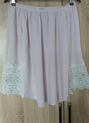 Красивая итальянская  лёгкая блузочка блузка блуза с открытыми плечами размер 46-48