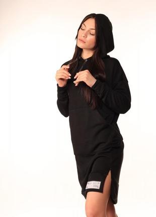 Платье худи quest wear чёрное