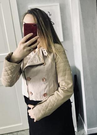 Куртка asos кожа+ткань