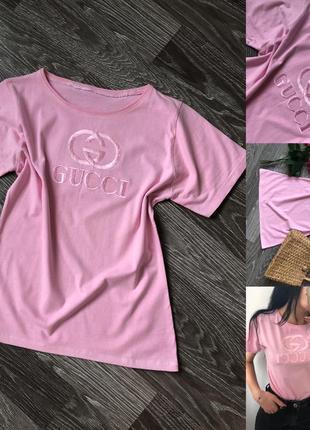 Рожева футболка gucci