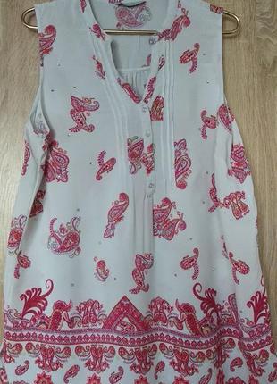 Красивая натуральная блуза блузка майка размер 55-56