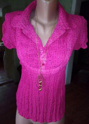Элегантная, фирменная блуза для леди. xs/ см. замеры