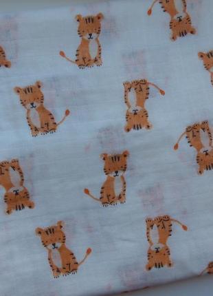 Муслиновая бамбуковая пеленка тигрята
