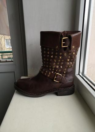 Кожаные сапоги, ботинки ugg