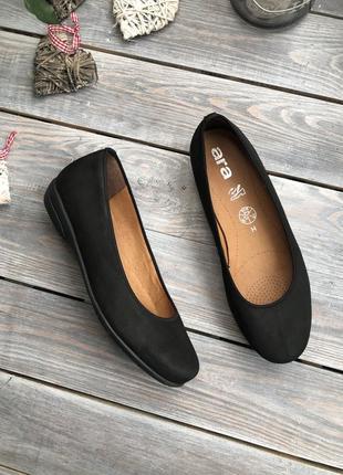 Ara кожаные балетки туфли базовые