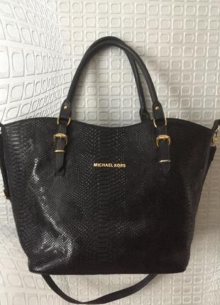 Большая сумка- шоппер от michael kors