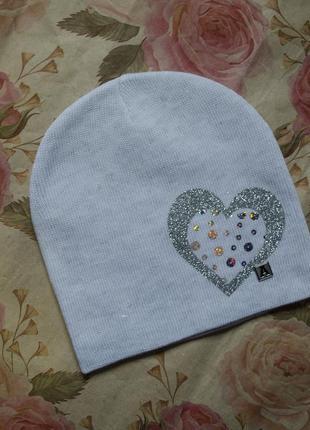 Нова шапка з хомутом, демисизонний головний убір для дівчинки