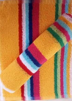 Кухонное полотенце натуральный хлопок желтое