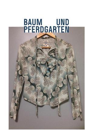 Baum und pferdgarten дизайнерская рубашка блузка женская люкс принт на пуговицах летняя